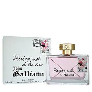 Женская парфюмерная вода John Galliano Parlez moi d Amour 80 ml копия