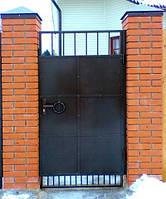 Калитка с металлпрофилем (с двух сторон)