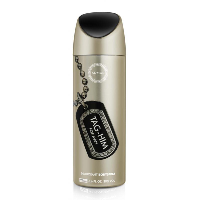 Парфюмированный дезодорант мужской Tag-Him 200ml. Armaf (Sterling Parfum)