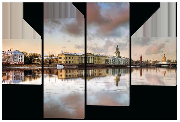 Модульная картина Пейзаж(Северная Русь)