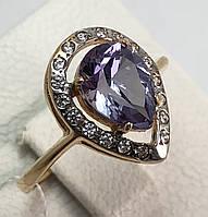 Кольцо c александритом золотое 585 проба, 17,5 размер.