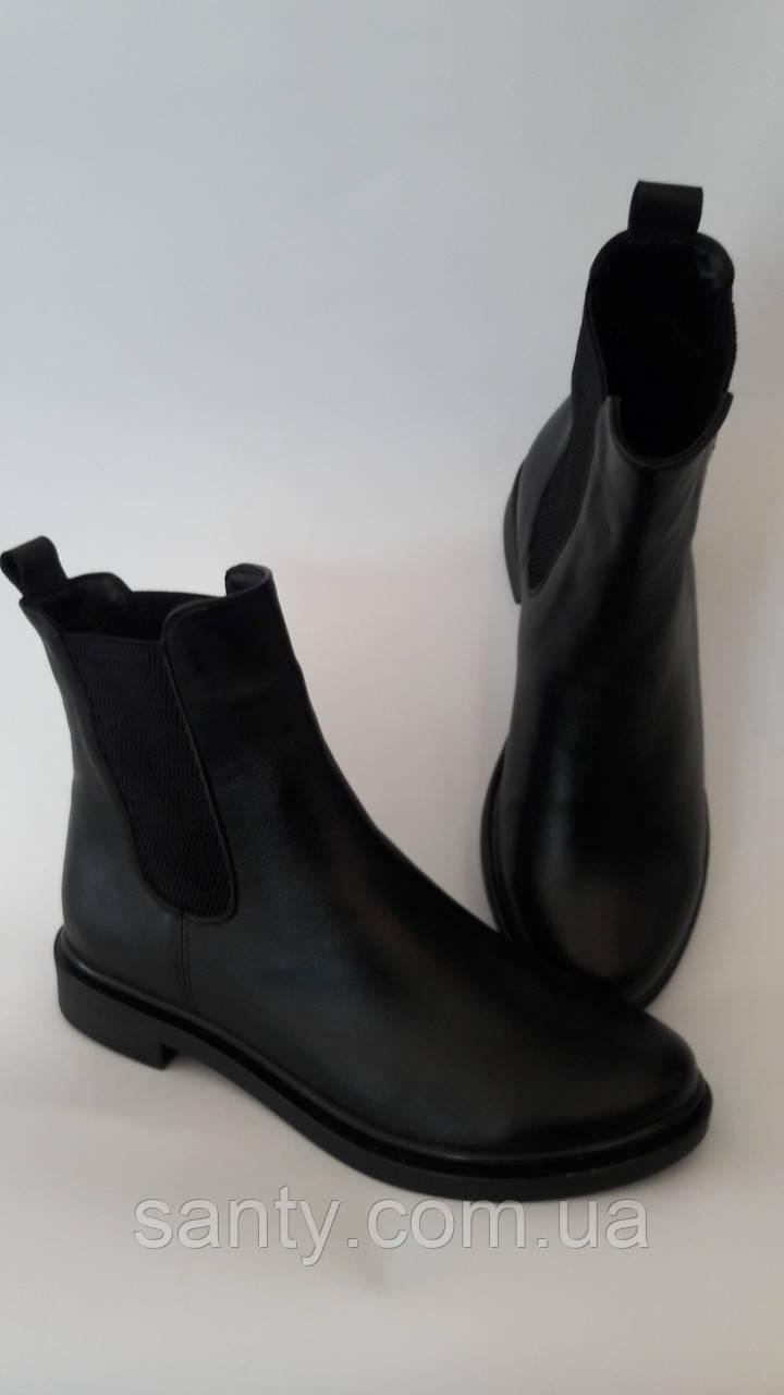 """Женские демисезонные ботиночки """"челси"""" из натуральной кожи"""
