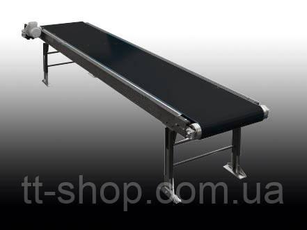 Ленточный конвейер длинной 2 м, ширина ленты 300 мм