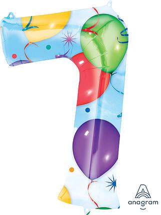 Шар ЦИФРА 7 С рисунком шаров (Анаграм), фото 2