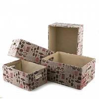Декоративные коробки для вещей. набор 4 шт.