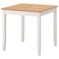 IKEA LERHAMN Стол, пятно, легкая патина, белое пятно  (802.642.71)