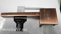Дозатор моющего средства квадратный AQUASANITA (Аквасанита) античная латунь, медь