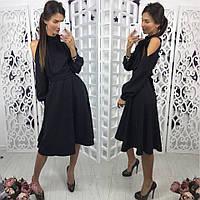 Платье длинное, 3 цвета; черное