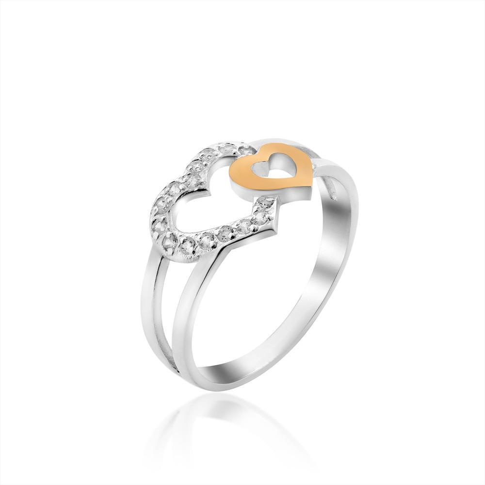 Серебряное кольцо с золотом Юрьев 311к 17