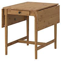 IKEA INGATORP Стол с отступом для стола, пятно патины  (202.214.25)