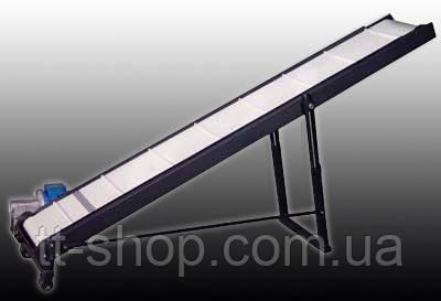 Ленточный конвейер длинной 8 м, ширина ленты 300 мм