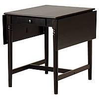 IKEA INGATORP Стол со столешницей, черно-коричневый  (802.214.27)