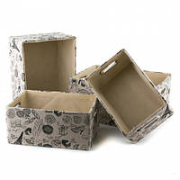 Стильные коробки для хранения (4 шт.) 39х30х19см