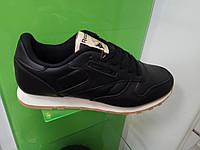 Мужские кроссовки Reebok Classic Leather черные, фото 1