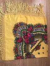 Настоящий жёлтый платок шерстяной с люрексом , фото 2