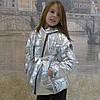 Детская одежда.Куртка-косушка (серебро-металлик)