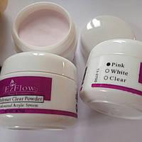 Акриловая пудра EzFlow 15 гр розовая прозрачная