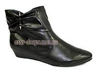 Кожаные женские демисезонные ботинки . В наличии 36-41 размеры