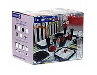 """Сервиз столовый Authentic B&W """"Е6195"""" 19 предметный luminarc."""