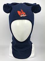 Детская весенняя шапка-шлем унисекс 1716-9