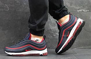 Кросівки чоловічі Nike air max 97,темно сині з червоним 43,44 р