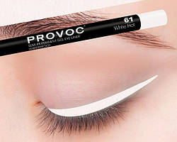 Полуперманентный гелевый карандаш для глаз №61 (цв. белый) PROVOC Gel Eye Liner White Hot