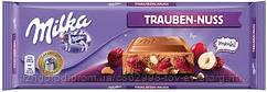 Молочный шоколад Milka Trauben-nuss 0.270 гр