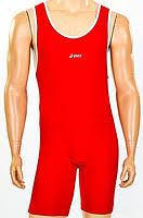 Трико для борьбы и тяжелой атлетики, пауэрлифтинга ASICS CO-5440-R(L) красный бифлекс