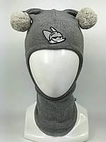 Детская весенняя шапка-шлем унисекс 1716-11