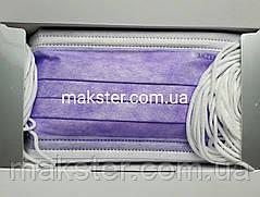 Маски медицинские Akzenta Top Mask Premium лиловые, фото 3