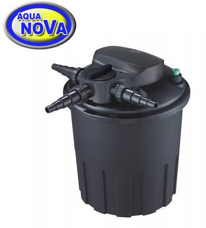 Напорный фильтр AquaNova NBPF-15000 УФ-лампа 24w с обратной промывкой.