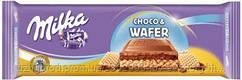 Молочный шоколад Milka Choco&Wafel  0.300 гр