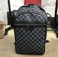 Рюкзак Louis Vuitton D2148 серо-черный