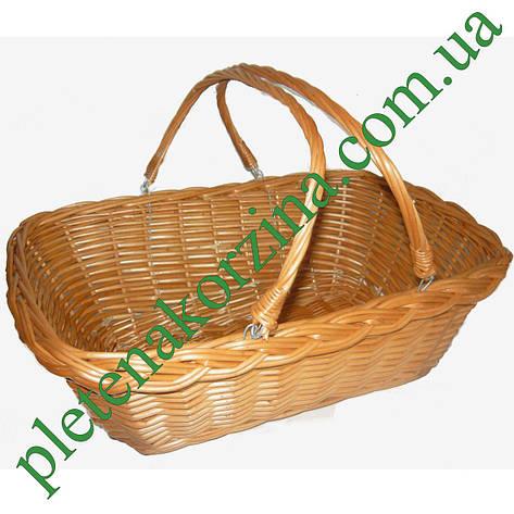 """Корзина плетеная для покупок """"супермаркет"""" Арт.054, фото 2"""