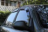 Дефлектори вікон вставні Fiat Linea 4D OD 2007->, 4шт, фото 3
