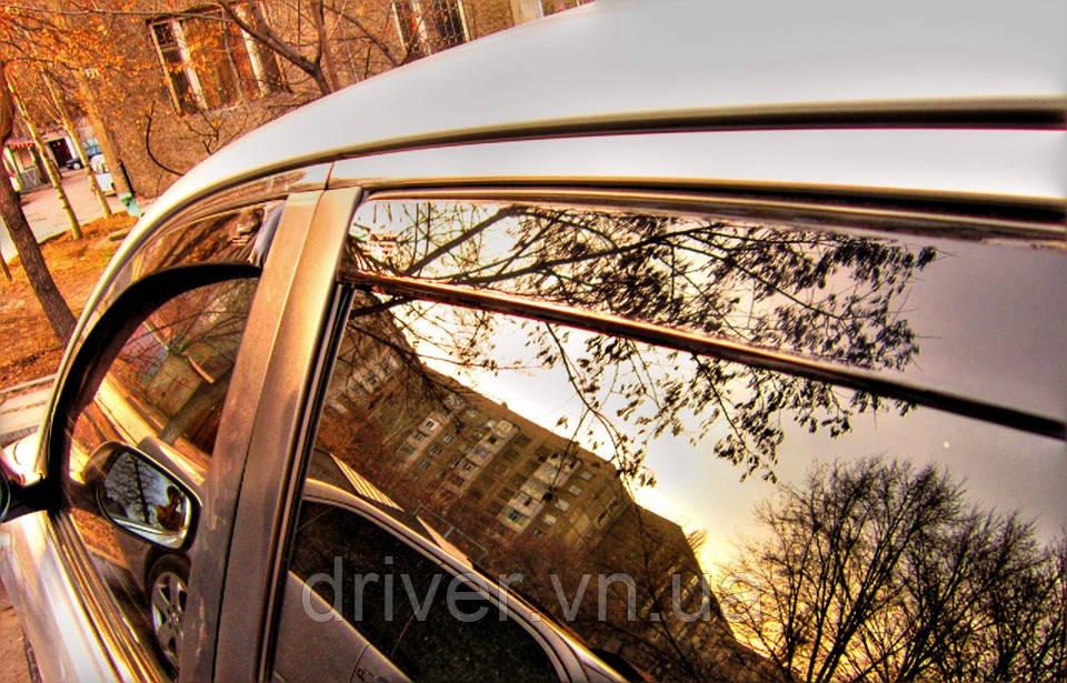 Дефлектори вікон вставні Fiat Linea 4D OD 2007->, 4шт