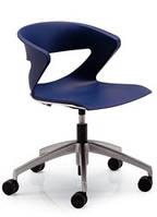 Кресло офисное Kicca КС5СSS пластик белый, с ткан. кат.C384