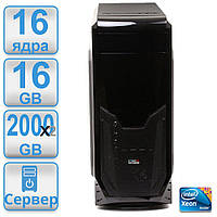 Сервер #2 POWERUP DUAL 2 х 1366 2 процессора Intel Xeon x5570 ( 16 х 3.33 ггц) / 16GB DDR3 / HDD 2000 GB x 2 RAID
