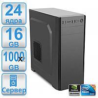 Сервер #3 POWERUP DUAL 2 х 1366 2 процессора Intel Xeon e5649 (24 х 2.93 ггц) /16GB / HDD 1000 GB х2 RAID / NVIDIA Quadro 600