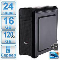Сервер #7 POWERUP DUAL 2 х 2011 2 процессора Intel Xeon E5 2640 ( 24 х 3.0 ггц) / 16GB /SSD 120 GBx2 x2 RAID