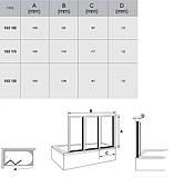 Шторка для ванни RAVAK VS 3-130 TRANSPARENT сатин, фото 4