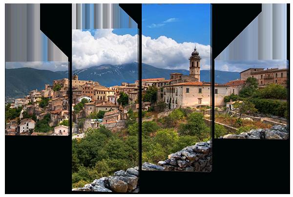 Модульная картина Итальянский город Абруццо.