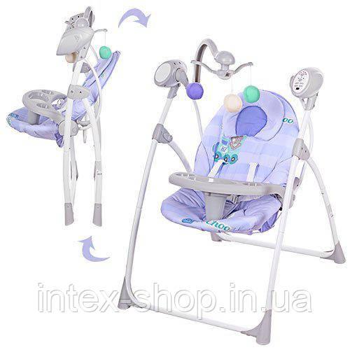Детские качели Bambi ФИОЛЕТОВЫЕ (M 1540-04) с подвесками