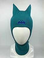 Весенняя шапка-шлем для мальчика Batman 1717-13