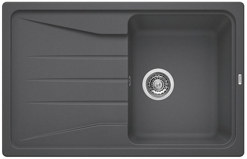 Гранитная кухонная мойка Blanco SONA 45S темная скала