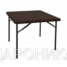 Стол пластиковый складной Rattan Design квадратный 86 х 86  PLTR-8602