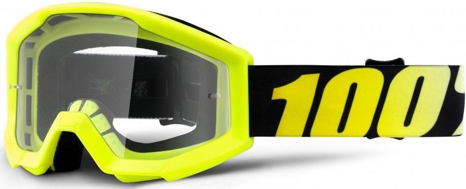 Детские мото очки 100% STRATA JR Goggle Neon Yellow - Clear Lens