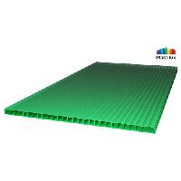 Сотовый поликарбонат SUNNEX 6мм зелёный
