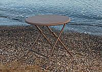 Стол пластиковый складной коричневый 80 см PLTR-8001