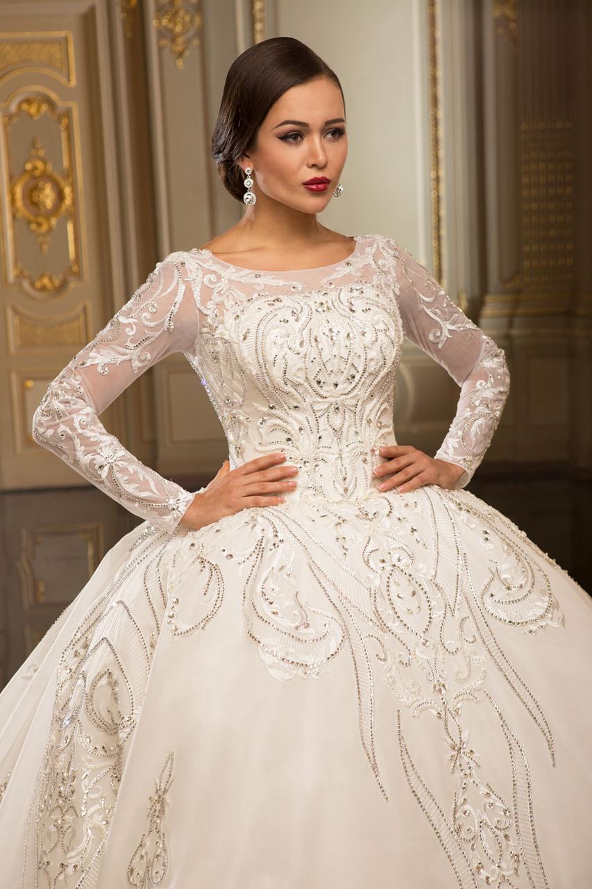a3511746581 Королевское свадебное платье со шлейфом - Свадебный Шик в Харькове
